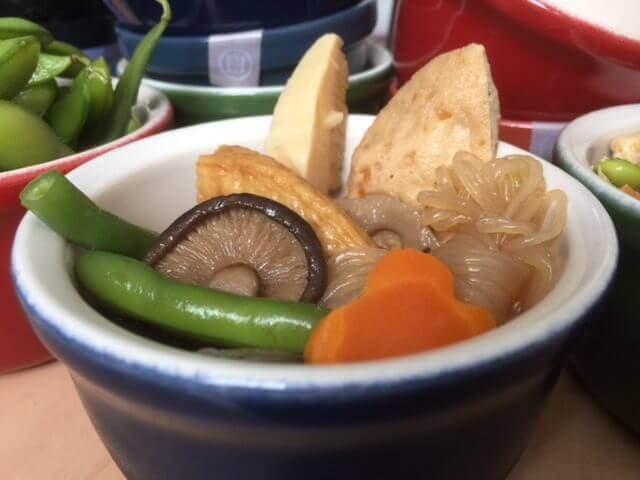 Emile Henry with Japanese food. This Emile Henry ramekin is perfect for small dishes