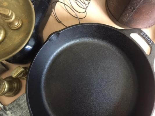 Lodge Skillets are great option for the first time user. In the picture is a cast-iron skillet made by Lodge.