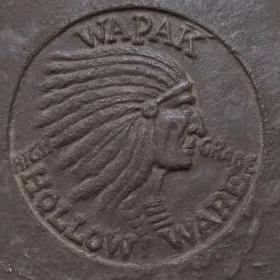 Indian Head logo by Wapak Hollow Ware Company