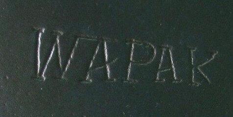 Wapak Tapered Logo on a Wapak cast iron skillet.