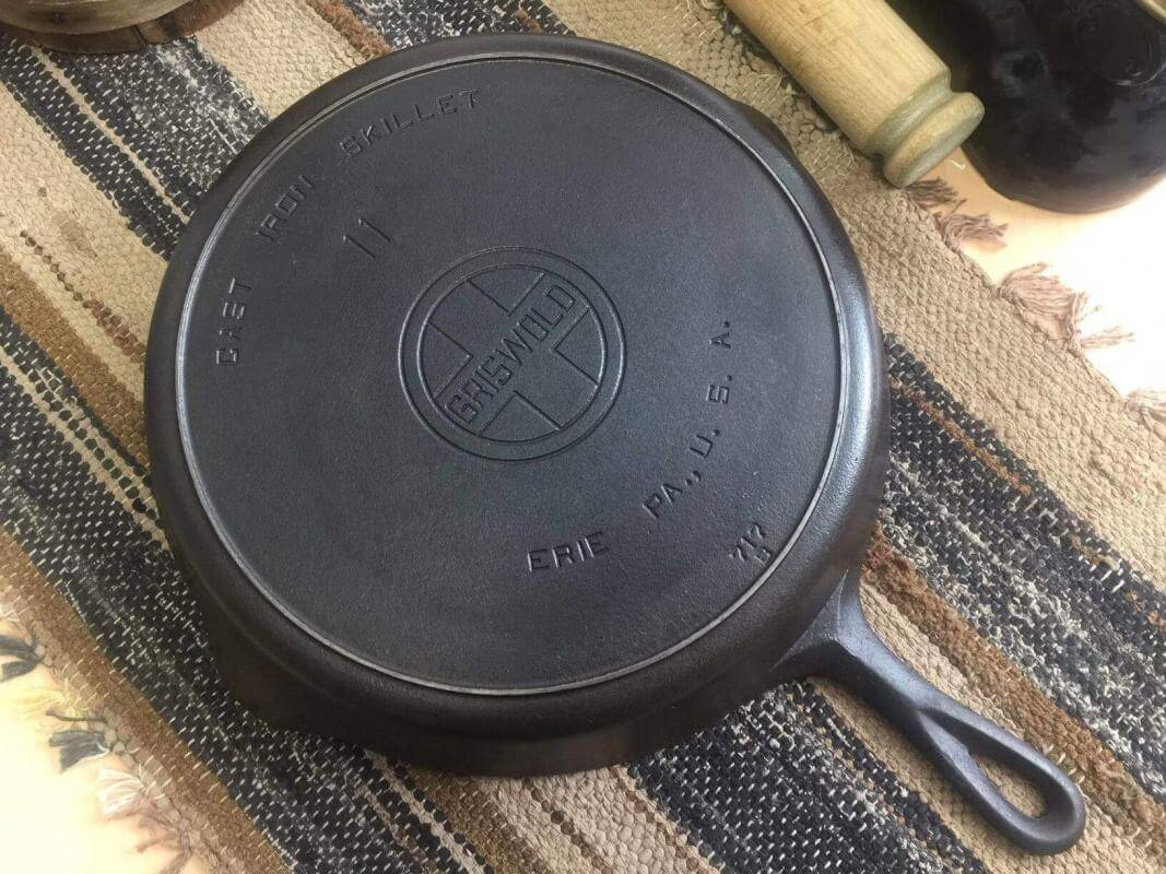 Griswold cast iron skillet number 11 showing large block logo