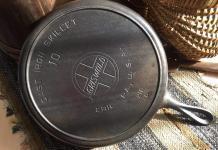 Griswold cast iron skillet size number 10.