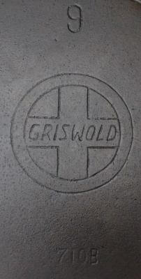 Griswold cast iron skillet missing the Erie under the logo.