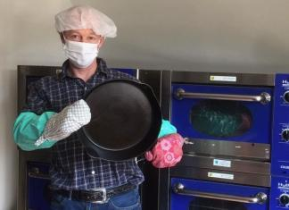 Is cast iron cookware safe to cook with? Boonie Hicks writer holding a cast iron pan.