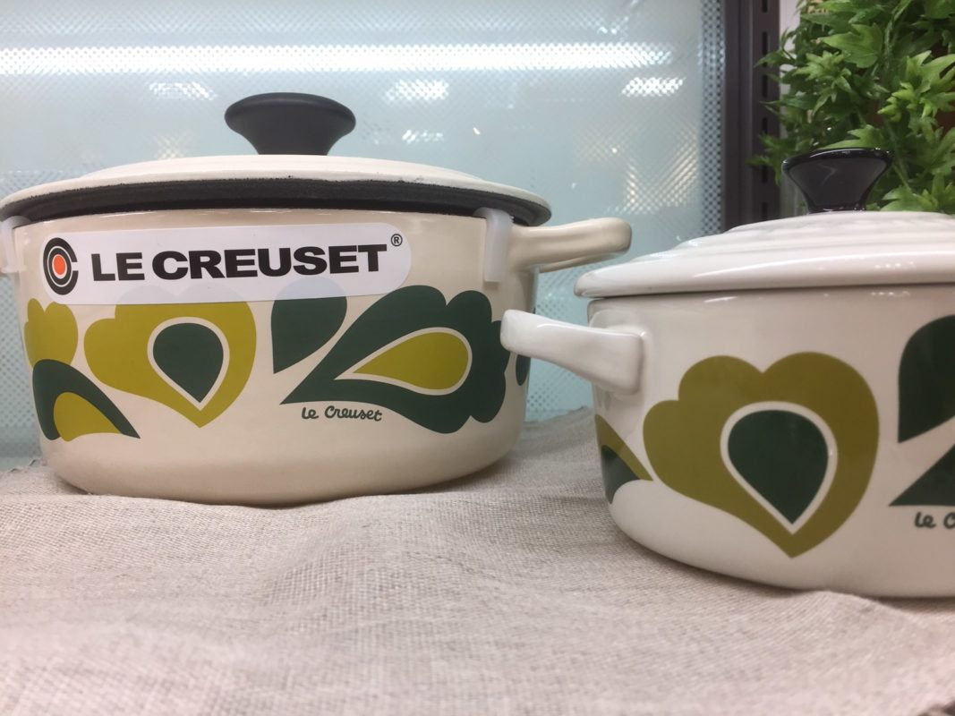 Two Le Creuset Dutch ovens