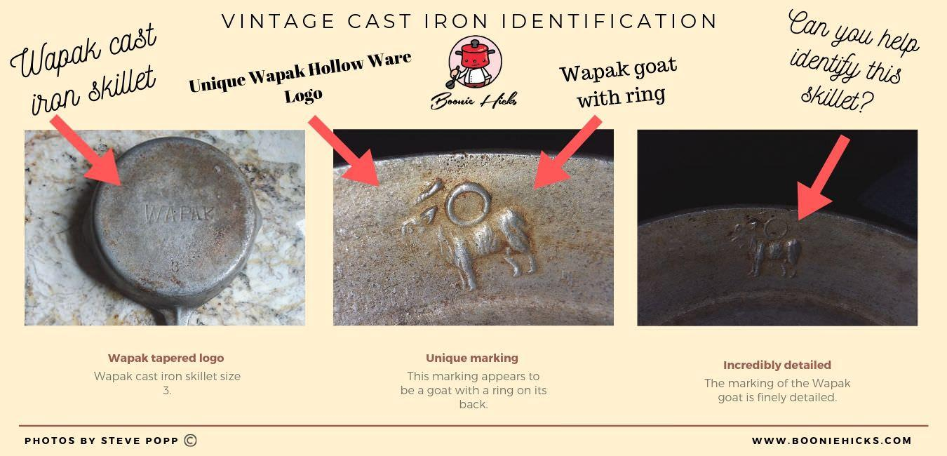 Wapak skillet with goat ring marking.
