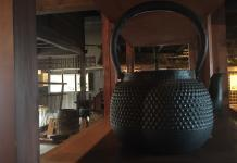 Antique Japanese cast iron kettle