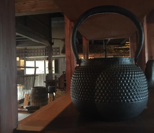 Antique Japanese cast iron kettle