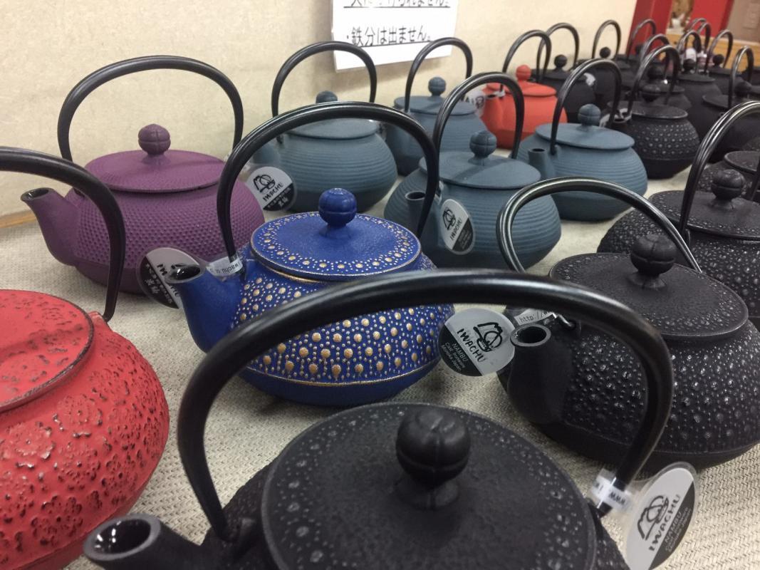 Iwachu cast iron teapots