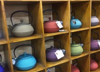 Large selection of cast iron teapots