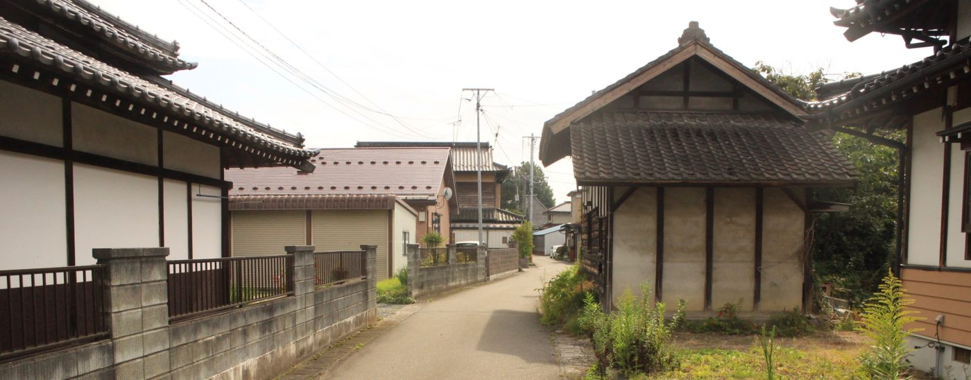 Picture of traditional houses in Mizusawa in Oshu Iwate Japan