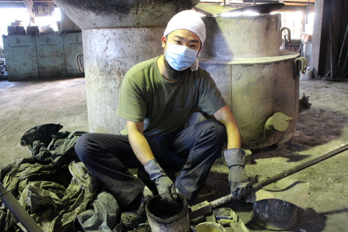 Oitomi foundry worker