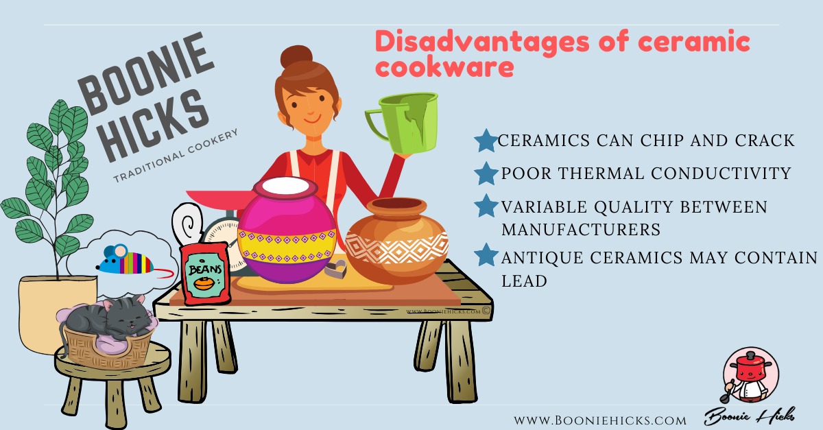 Disadvantages of ceramic cookware