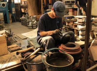 Iwachu Castings Works foundry worker