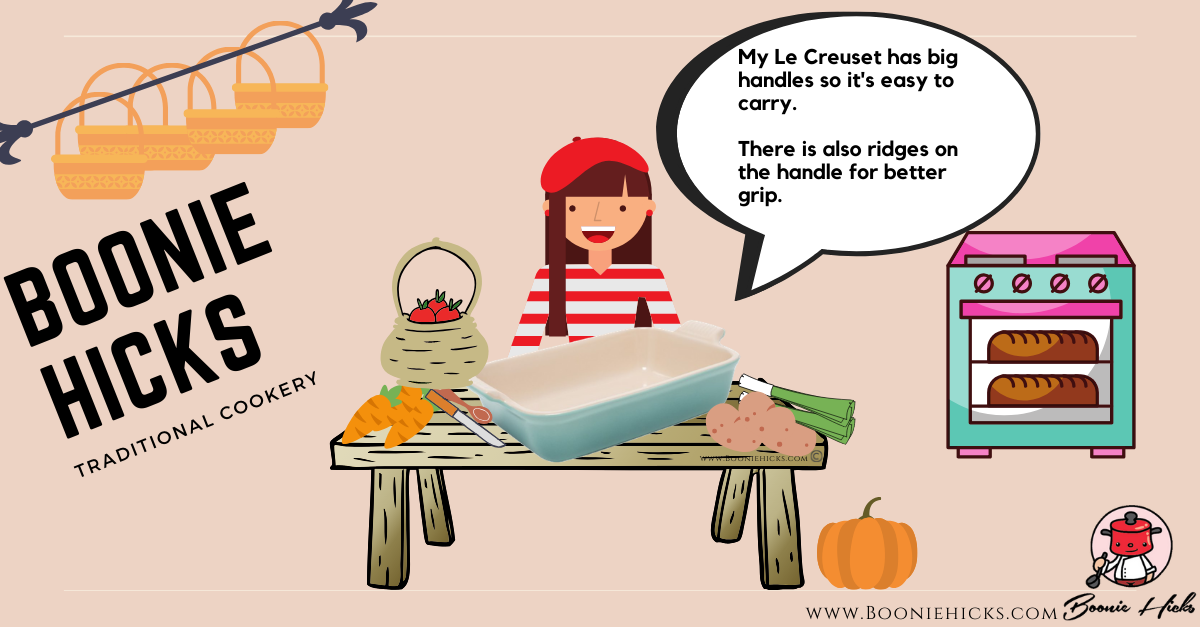 Le Creuset ceramic baking dish (fun graphic)