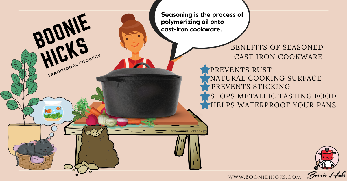 Benefits of seasoned cast iron cookware