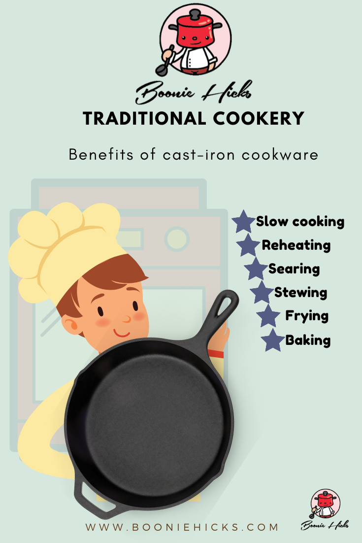 Cooking methods used for cast iron cookware