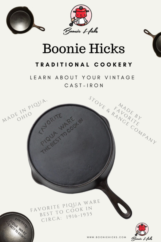 Favorite Piqua Ware Best to cook in cast iron skillet