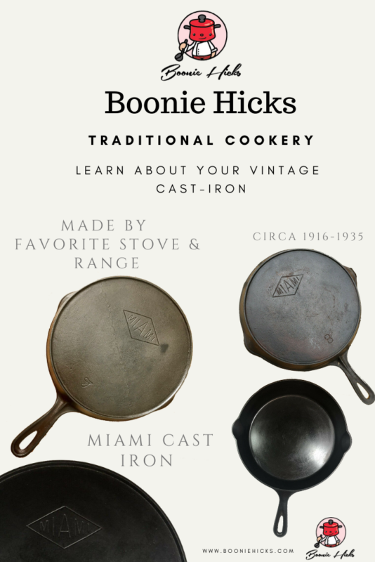 Miami cast iron skillet