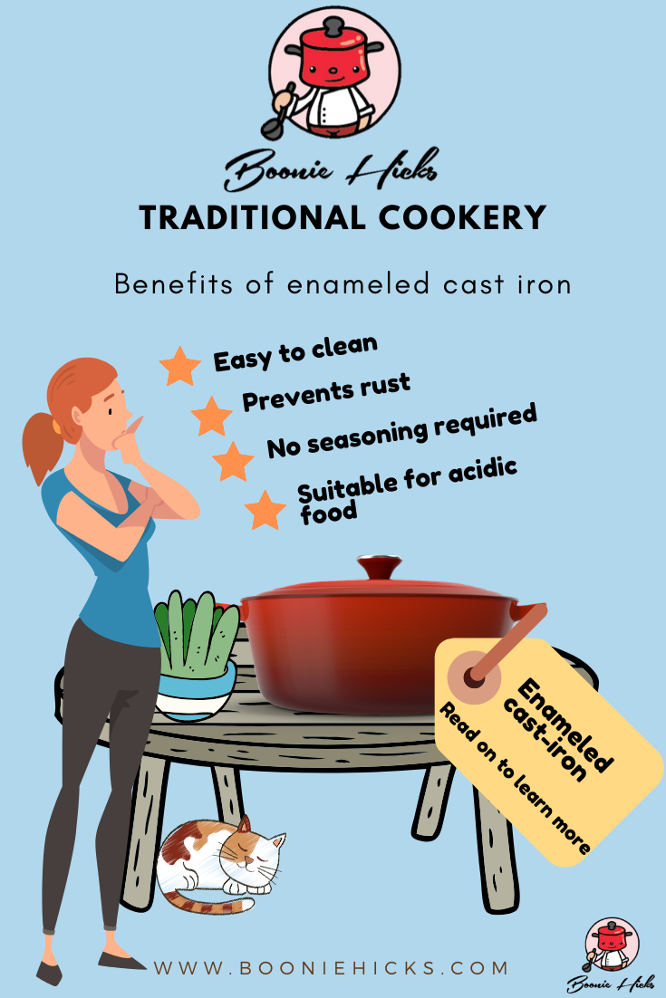 Why use enameled cast-iron?