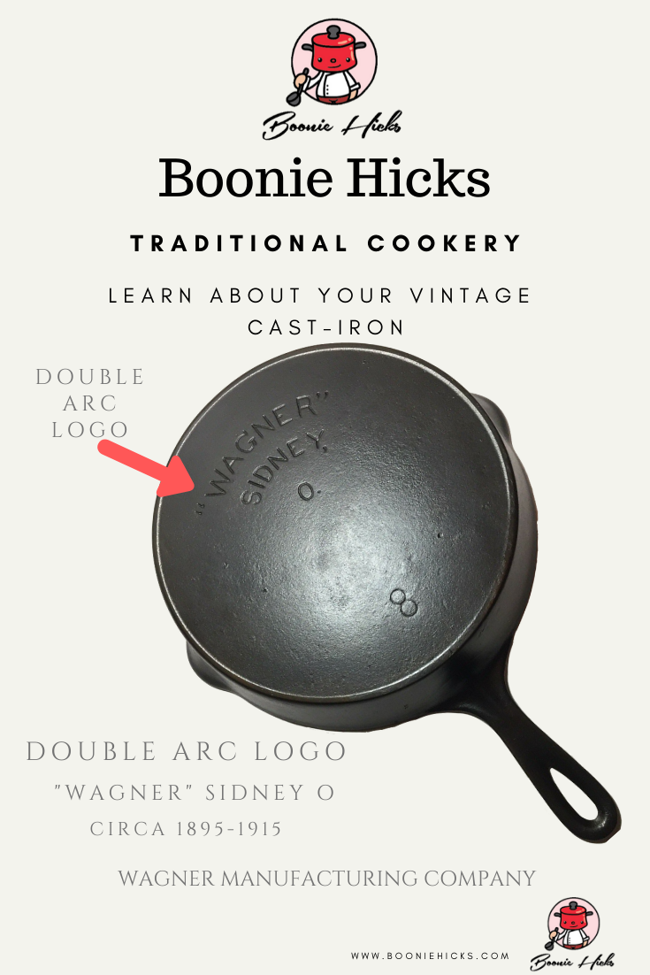 Wagner Cast-Iron Skillet with double arc logo