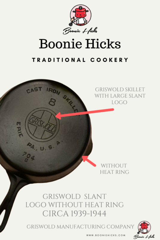 Cast iron skillet with Griswold logo