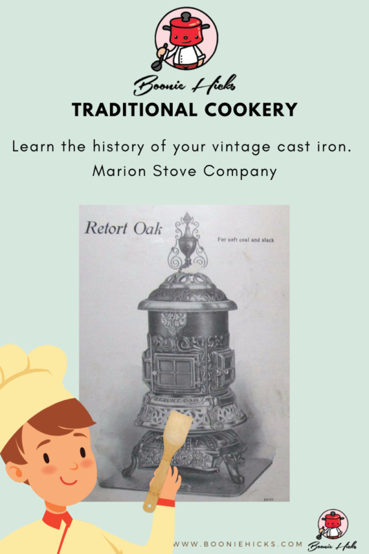 Marion Stove Company cast iron Retort Oak Stove