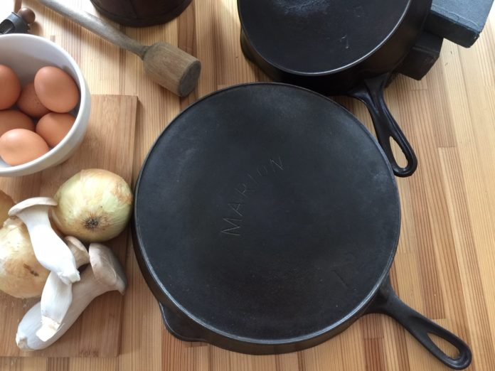 Marion cast iron skillet made by Marion Stove Company