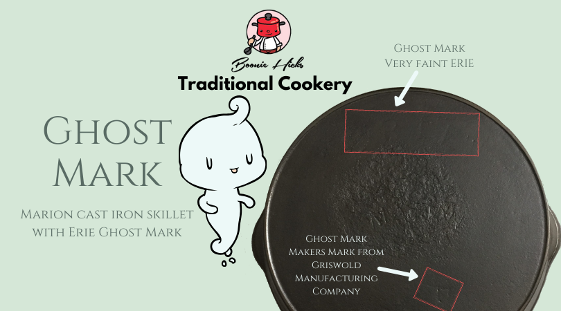 Marion skillet with Erie Ghost Mark