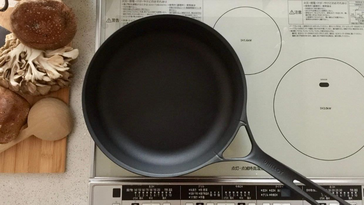 Unilloy cast iron skillet by Sanjo Special Cast Company