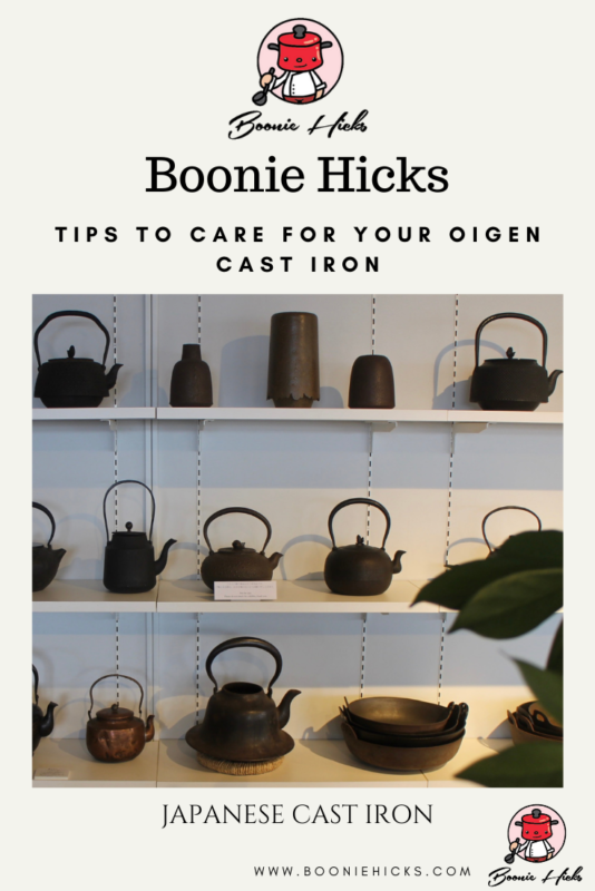 How to use and care for your Oigen cast iron