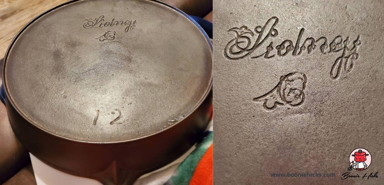 Antique Sidney cast iron skillet with script logo