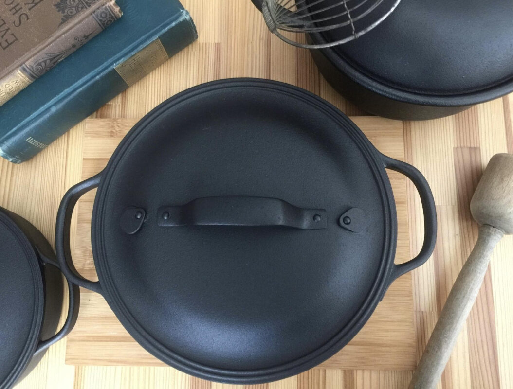 Three different sized Dutch Ovens