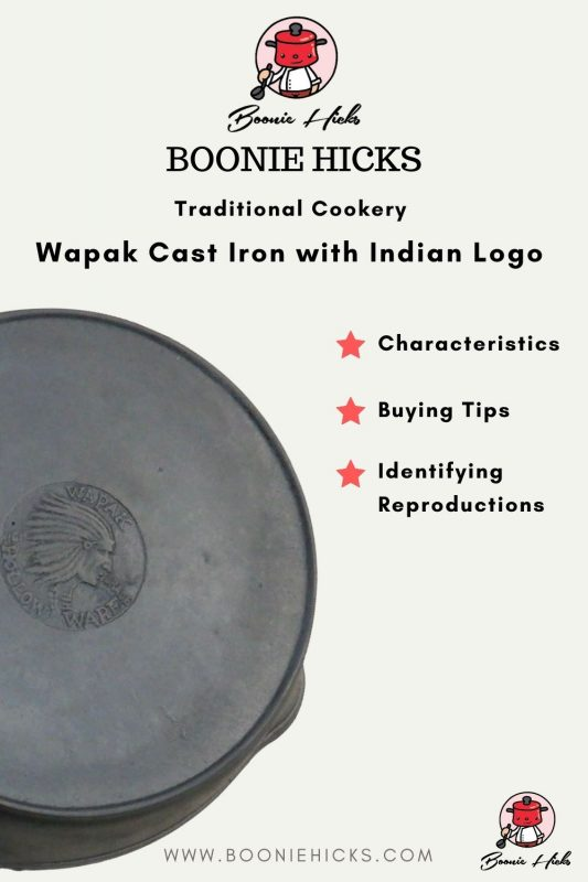 Guide to Wapak cast iron with Indian logo